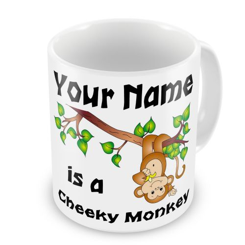 Personalised Cheeky Monkey Any Name Novelty Gift Mug